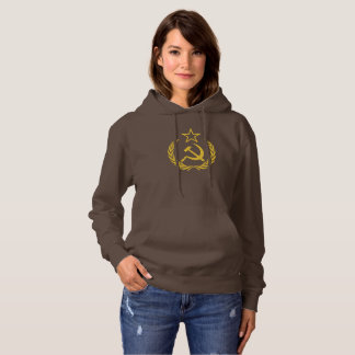 Cold War Communist Women's Basic Hooded Sweatshirt