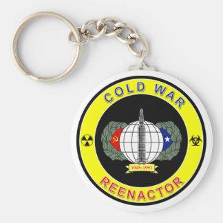 Cold War Reenactor Basic Round Button Keychain