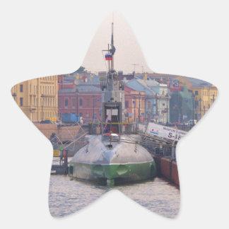 Cold War Submarine Star Sticker