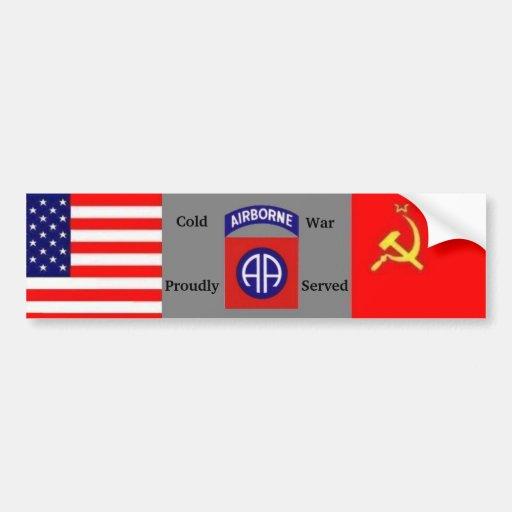 Cold War Vet 82nd Abn Bumper Sticker Car Bumper Sticker