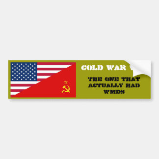 Cold War Vet Bumper Sticker