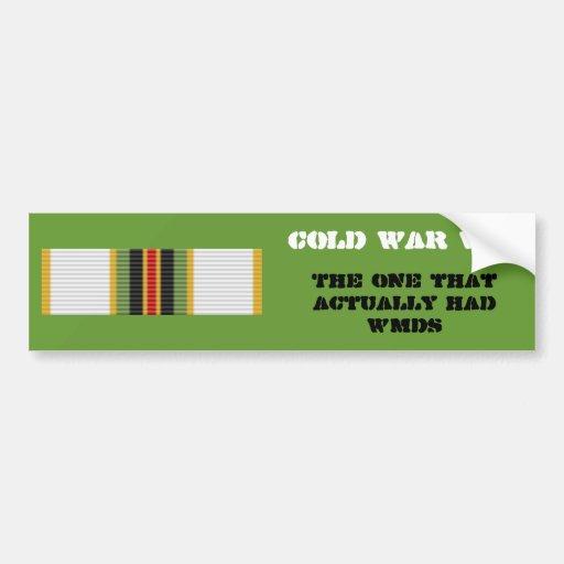 Cold War Vet Bumper Sticker- 2nd Type