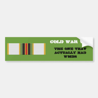 Cold War Vet Bumper Sticker- 2nd Type Bumper Sticker