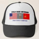 "Cold War Veteran Hat<br><div class=""desc"">Cold War Veteran Hat with U.S.- USSR Cold War medal design</div>"