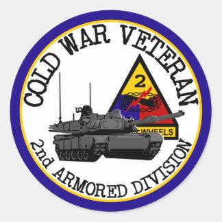 Cold War Veteran Round Stickers