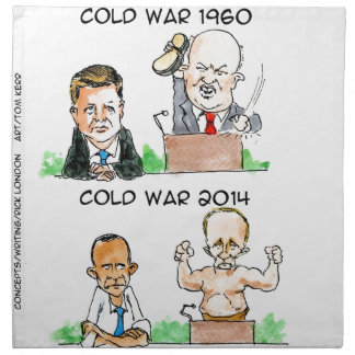 Cold Wars of 1960 And 2014 Funny Cloth Napkin