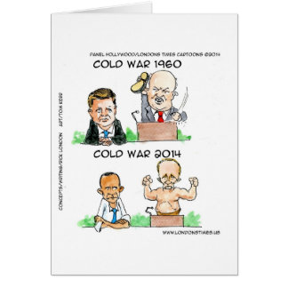 Cold Wars of 1960 And 2014 Funny Greeting Card