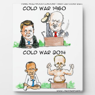 Cold Wars of 1960 And 2014 Funny Photo Plaques