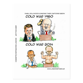 Cold Wars of 1960 And 2014 Funny Postcard