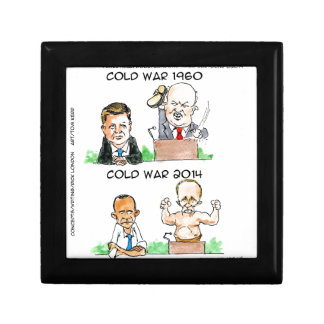 Cold Wars of 1960 And 2014 Funny Trinket Box