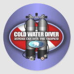 Cold Water Diver (ST) Round Stickers