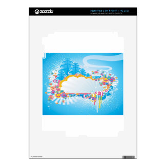 Cold winter abstract design decal for iPad 3