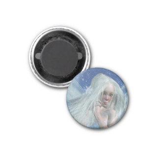 Cold Winter Fairy Portrait 1 Inch Round Magnet
