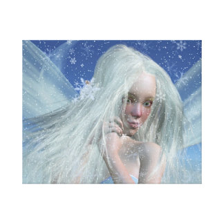 Cold Winter Fairy Portrait Stretched Canvas Print
