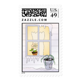 Cold Winter Freeze Postage Stamp