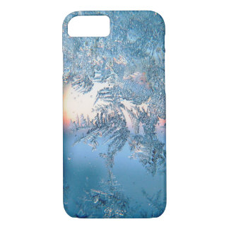 Cold Winter Frosted Glass Ice Crystals iPhone 8/7 Case