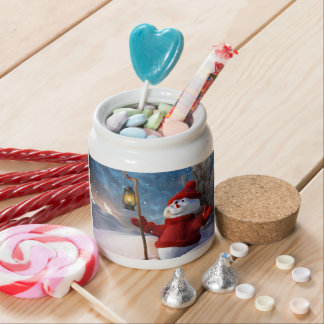 Cold Winter Snowman Candy Jars