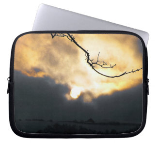Cold Winter Sunrise Laptop Sleeve