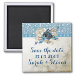 Cold Winter Wind Save the date Fridge Magnets