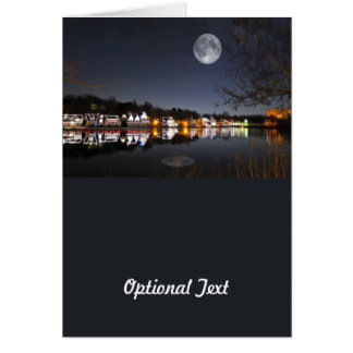 Cold Winter's Night on Boathouse Row Greeting Card