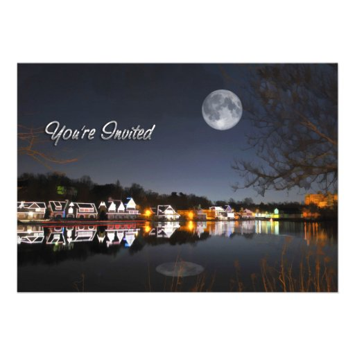 Cold Winter's Night on Boathouse Row Invite