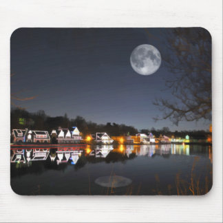 Cold Winter's Night on Boathouse Row Mousepad