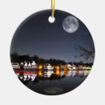 Cold Winter's Night on Boathouse Row Christmas Ornament