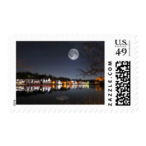 Cold Winter's Night on Boathouse Row Postage