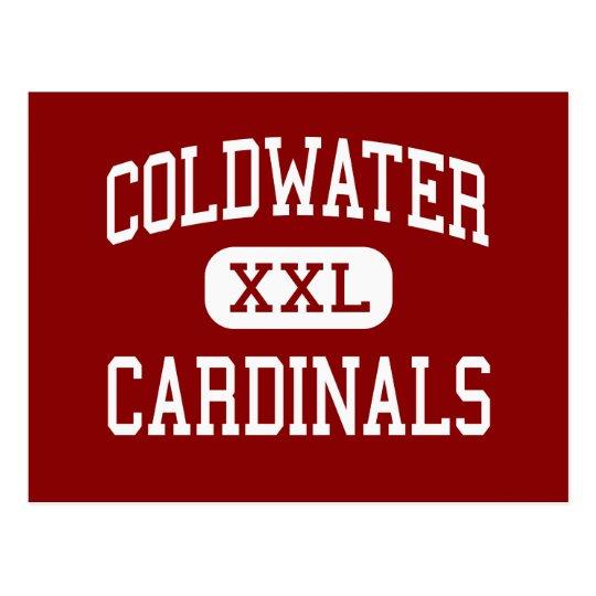 Coldwater - Cardinals - High - Coldwater Michigan Postcard