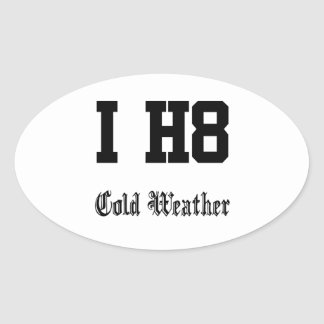 coldweather oval sticker