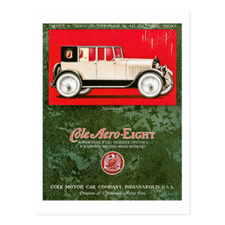 Cole Aero-Eight Vintage Car Ad Postcard