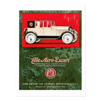 Cole Aero-Eight Vintage Car Ad Post Cards