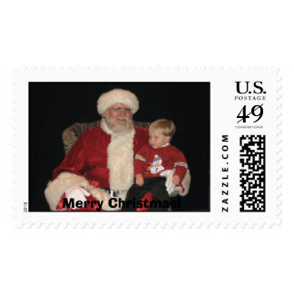 cole and santa 05, Merry Christmas! Stamp