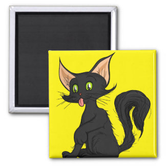 Cole Cat 2 Inch Square Magnet