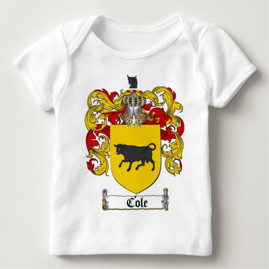 COLE FAMILY CREST -  COLE COAT OF ARMS BABY T-Shirt