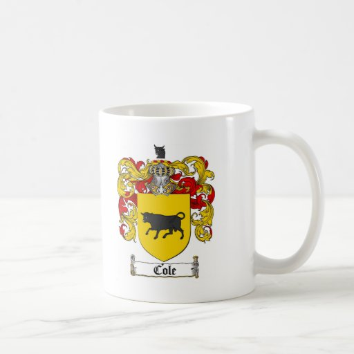 COLE FAMILY CREST -  COLE COAT OF ARMS COFFEE MUGS