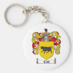 COLE FAMILY CREST -  COLE COAT OF ARMS KEYCHAIN
