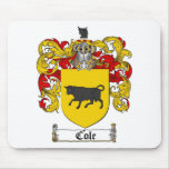 COLE FAMILY CREST -  COLE COAT OF ARMS MOUSE PAD