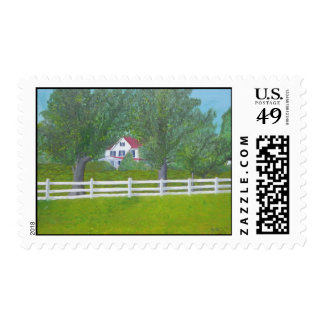 Cole Farm House - Purcellville, VA Postage Stamp