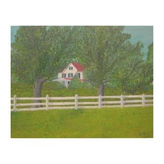 Cole Farm House Wood Print