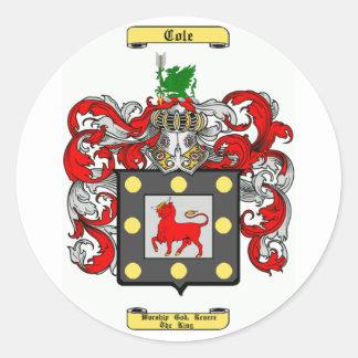 cole (irish) classic round sticker