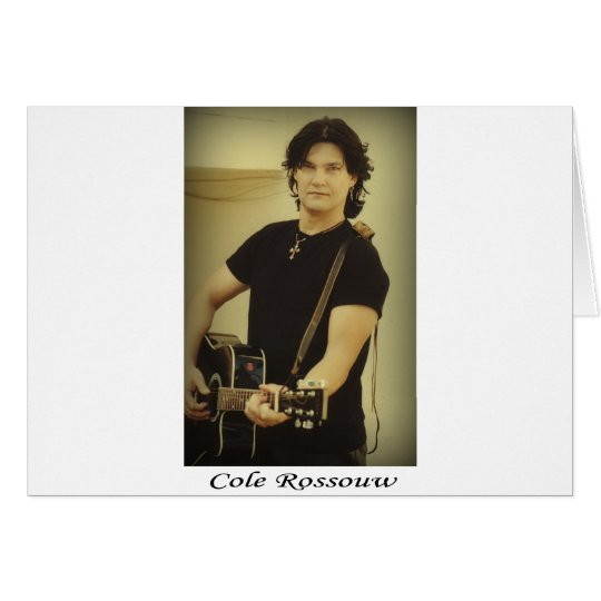 Cole Rossouw - Singer Songwriter Card