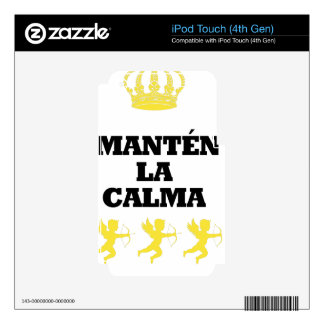 "Coleção ""MANTÉN the CALM and enamors""/MigMich_ to  iPod Touch 4G Skin"