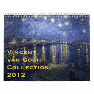 Colección 2012 de Vincent van Gogh Calendario