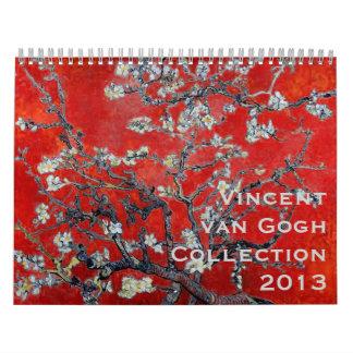 Colección 2013 de Vincent van Gogh Calendario