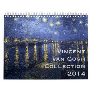 Colección 2014 de Vincent van Gogh Calendario