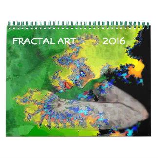 COLECCIÓN 2016 DE ARTE DEL FRACTAL CALENDARIOS DE PARED