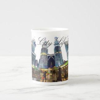 Colección #2, taza de la vida de ciudad de la taza de porcelana