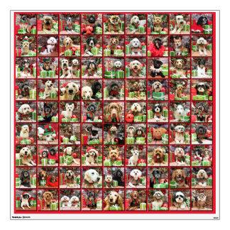 Colección 5 del retrato de los perros del navidad
