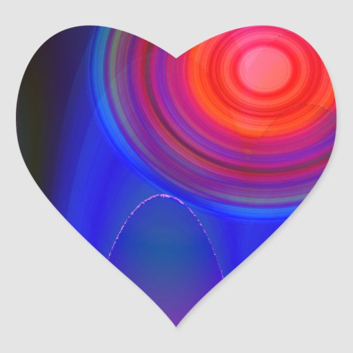 Colección abstracta 10 pegatina en forma de corazón